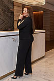 Женский костюм кофта и штаны кюлоты креп дайвинг+люрекс размер батальный: 50-52, 54-56, 58-60, фото 2