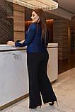Женский костюм кофта и штаны кюлоты креп дайвинг+люрекс размер батальный: 50-52, 54-56, 58-60, фото 5