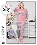 Тёплая пижама флисовая, велсофт, фото 2