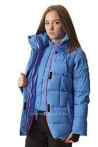 Женская удлиненная куртка Azimuth голубая S