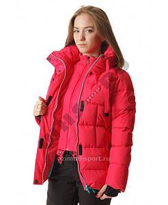 Женская удлиненная куртка Azimuth розовая XL