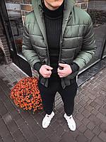 Мужская куртка на холодную зиму (Хаки) kk3