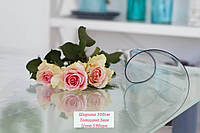 Прозрачная пленка на стол - мягкое стекло Защита для мебели ширина 100см толщина 3мм