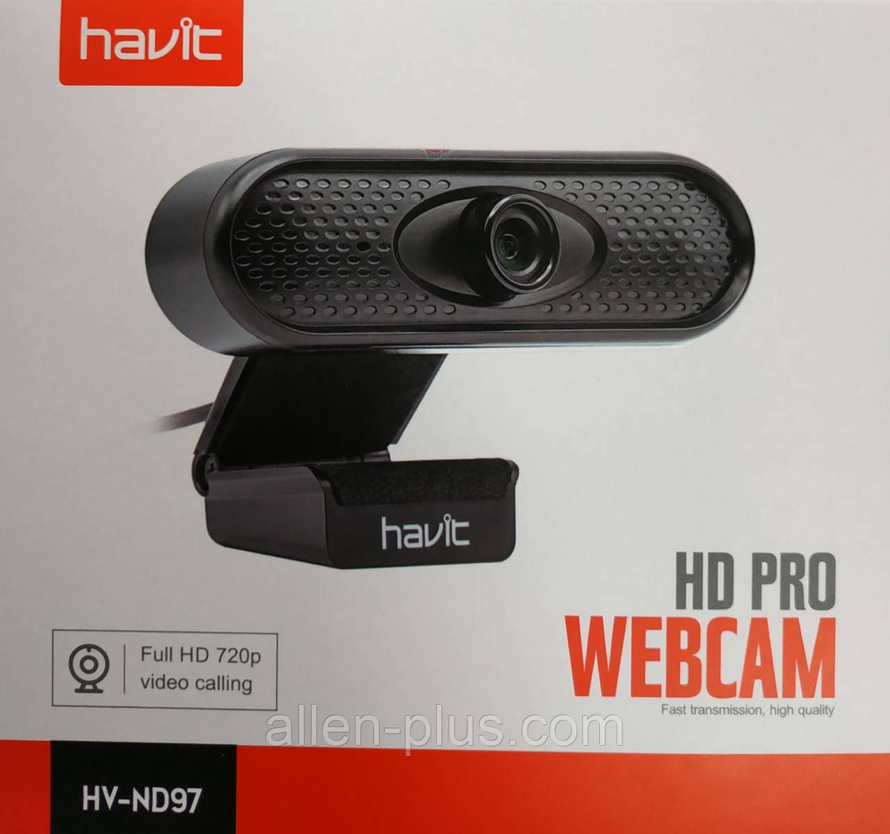 Веб-камера с микрофоном Havit HV-ND97 Full HD 720p
