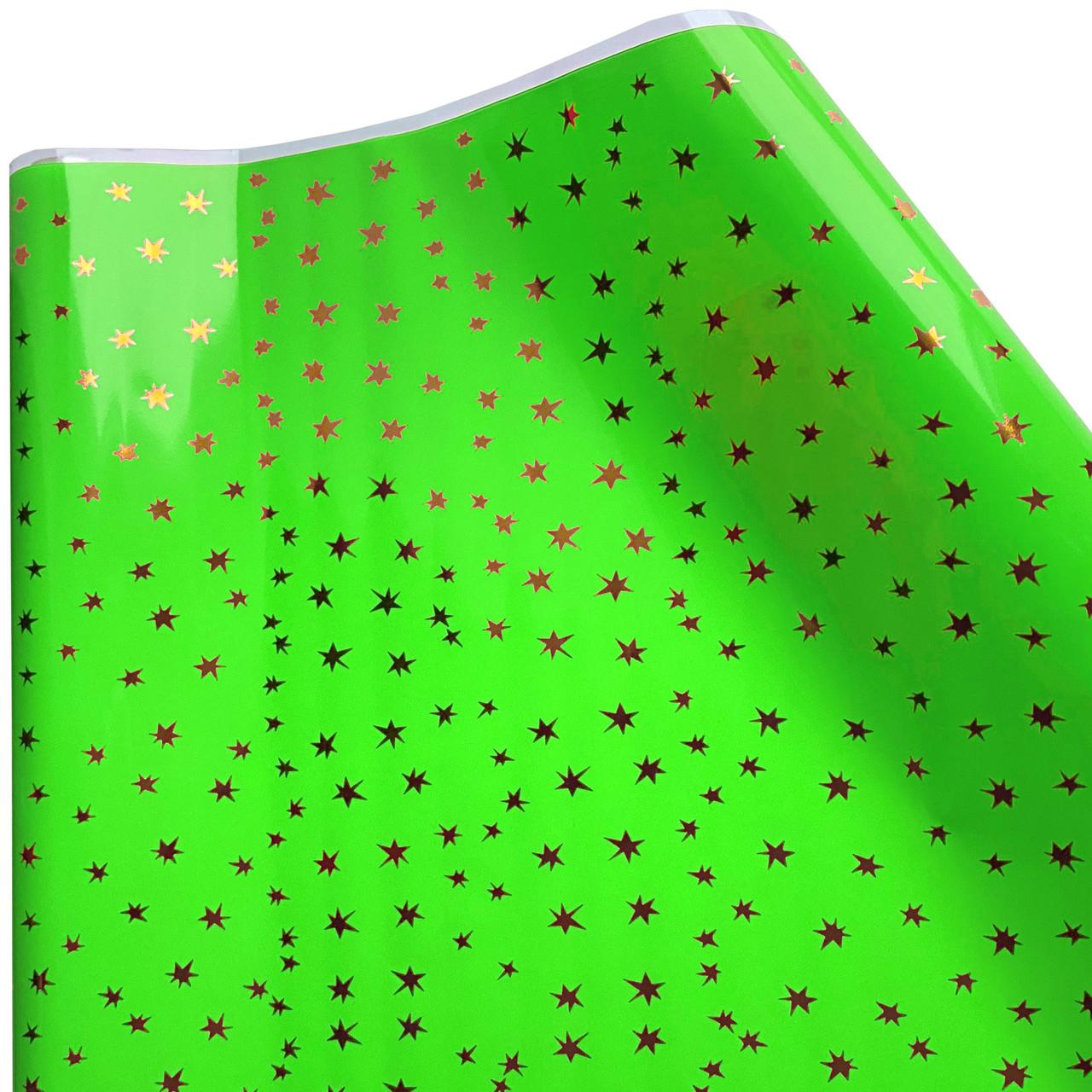 """Плівка тонована """"Зірки"""" зелена 60 см х 9 метрів"""