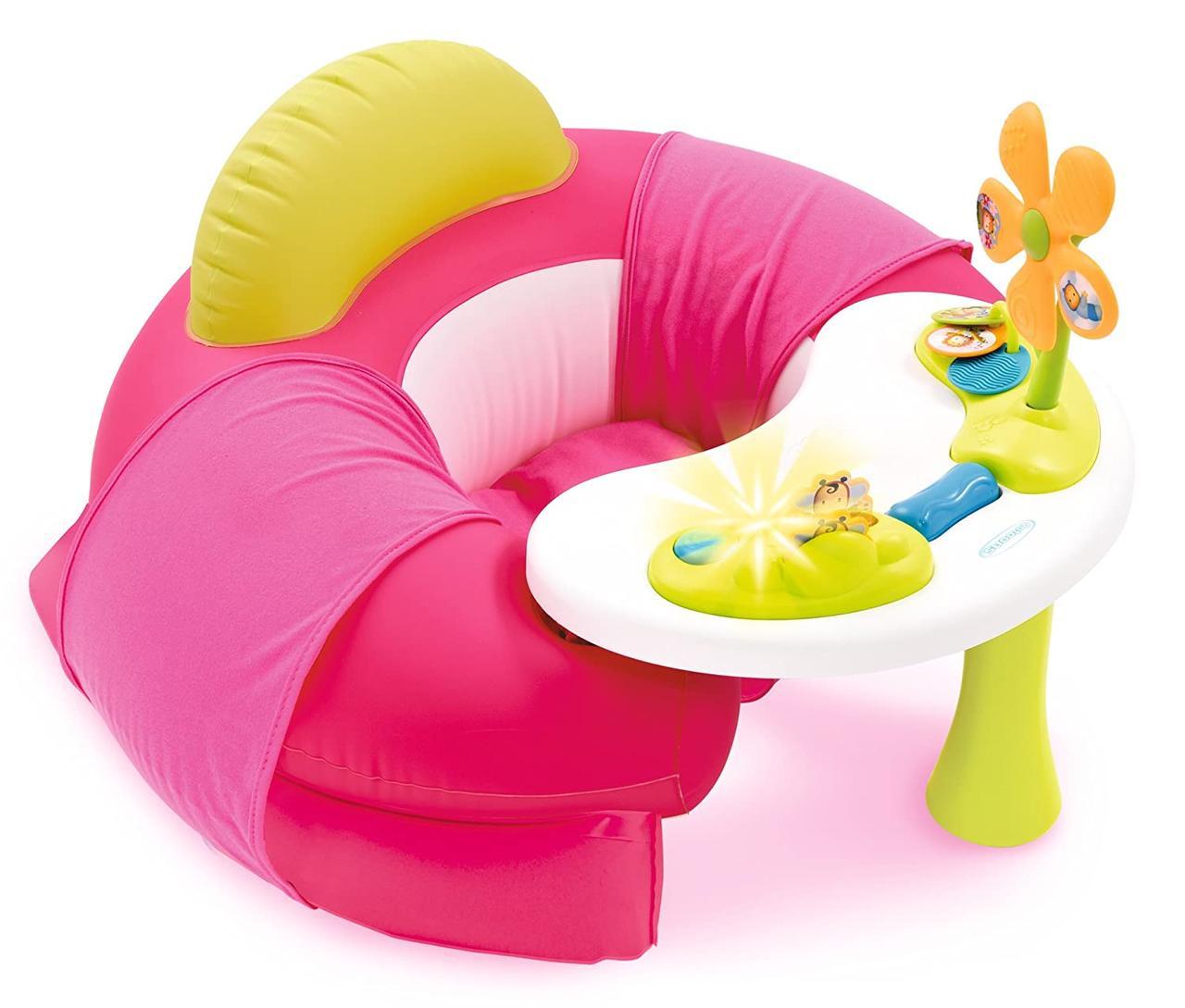 Детское кресло Cotoons с игровой панелью, розовое,  Smoby 110211