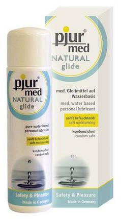 Лубрикант для чувствительной кожи Pjur Med Natural Glide 100 мл на водной основе нейтральный, фото 2
