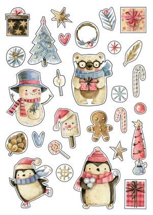 милые новогодние наклейки