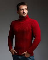 Теплый мужской гольф красный