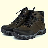 Коричневые ботинки на меху кожаная зимняя мужская обувь Rosso Avangard Pro Lomerflex Brown