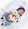 Силиконовая Коллекционная Кукла Реборн Reborn Мальчик ( Виниловая Кукла ). Арт.114958