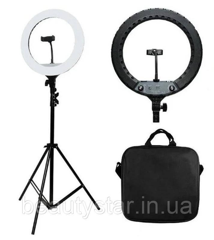 Кільцева лампа на штативі для візажу ТикТок для косметологів візажистів блогерів перукарів салонів краси