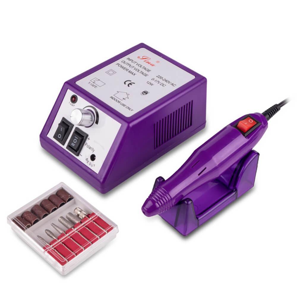 Фрезер для маникюра/педикюра Lina 20000 (12W/20000 об.) Фиолетовый