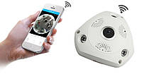 Панорамная Wi-Fi IP камера 360° (рыбий глаз) 1080, фото 1