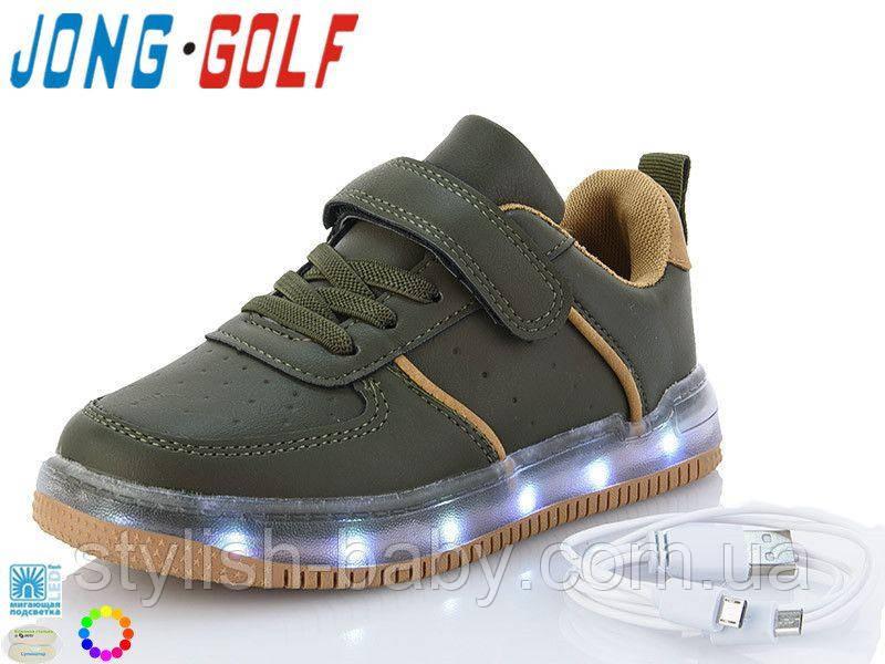 Детские кроссовки со светящей подошвой и с подзарядкой 2021 бренда Jong Golf для мальчиков (рр. с 31 по 36)
