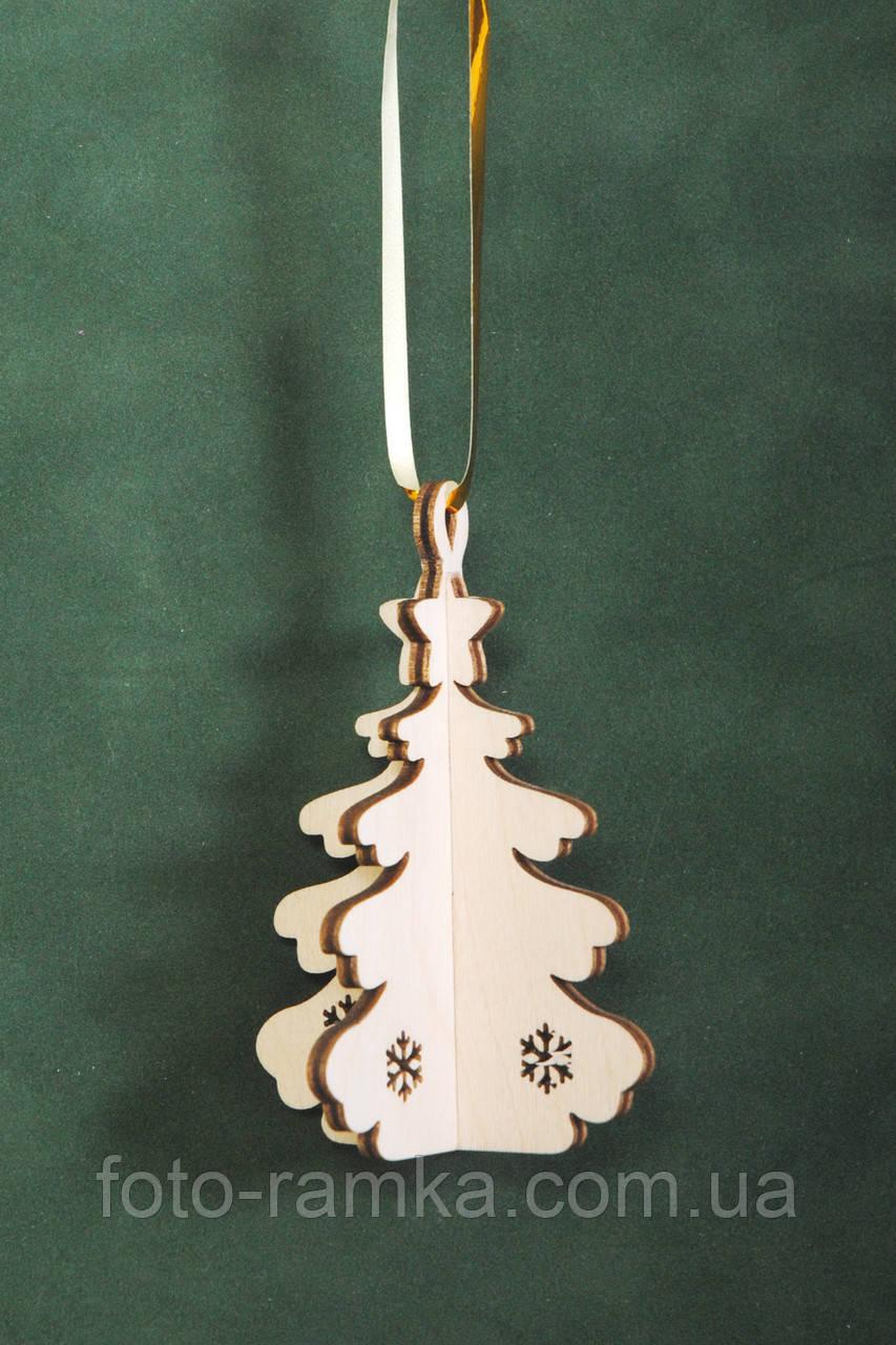 Іграшка новорічна ялинка тривимірна