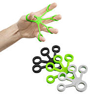 Набор эспандеров 3 шт для пальцев и кисти 4FIZJO серый, черный, зеленый 4FJ0134 - Акция