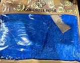 Покривало травичка | Пухнастий махровий плед. 160х210 див. Колір Блакитний, фото 4