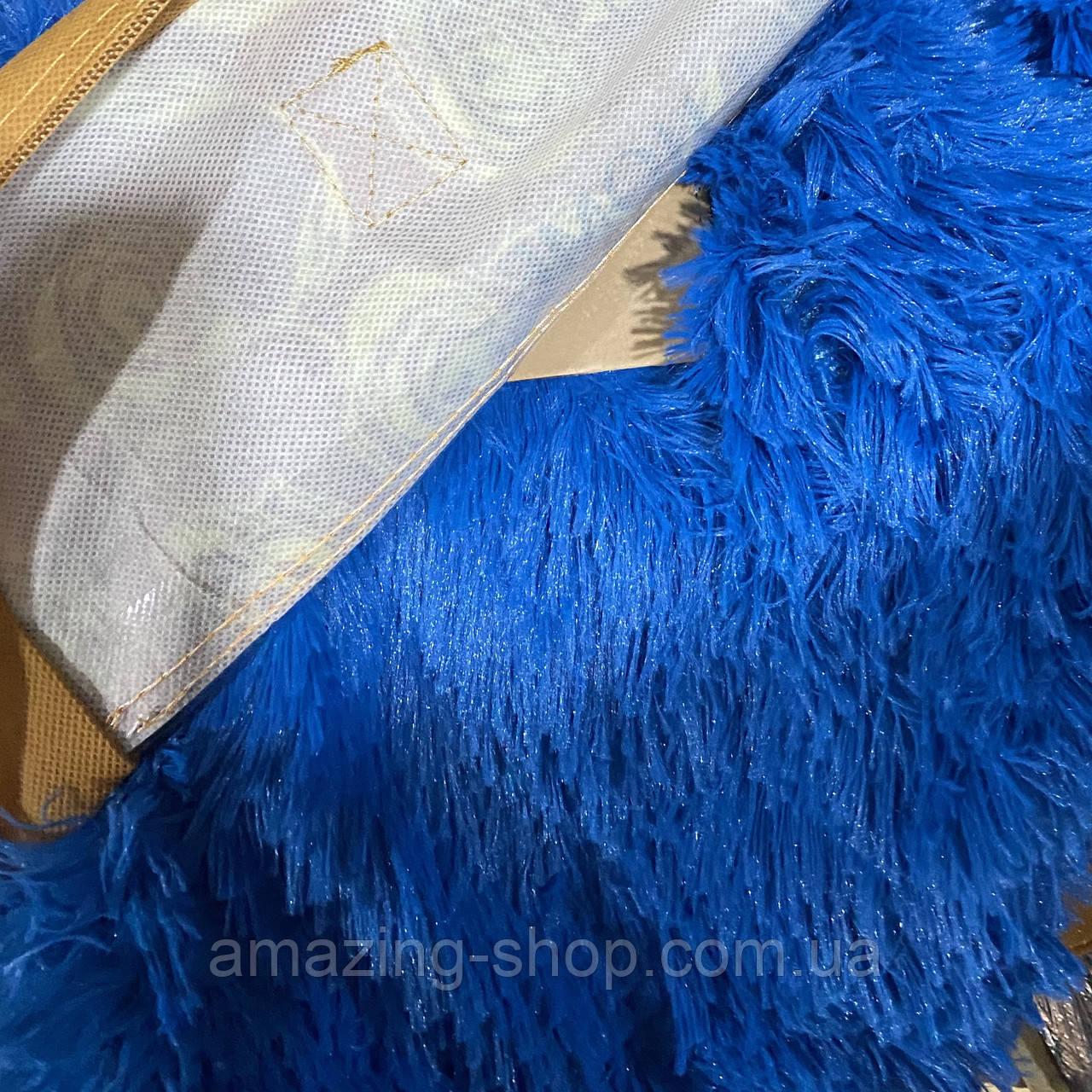 Покривало травичка | Пухнастий махровий плед. 160х210 див. Колір Блакитний