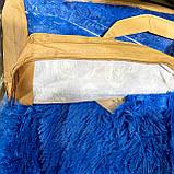 Покривало травичка | Пухнастий махровий плед. 160х210 див. Колір Блакитний, фото 3