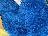Покривало травичка | Пухнастий махровий плед. 160х210 див. Колір Блакитний, фото 6