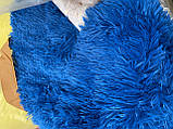 Покривало травичка | Пухнастий махровий плед. 160х210 див. Колір Блакитний, фото 2