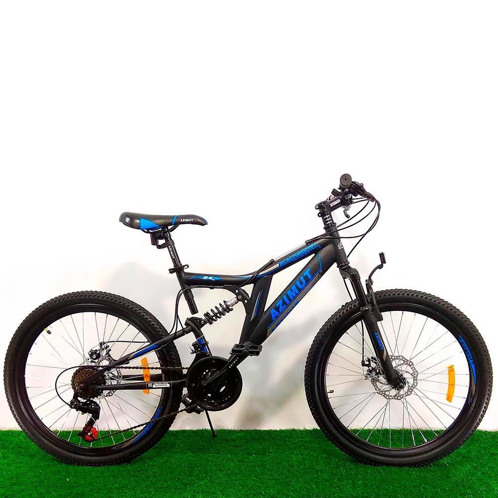 """Горный двухподвесный велосипед 26"""" Azimut Blackmount D черно-синий"""