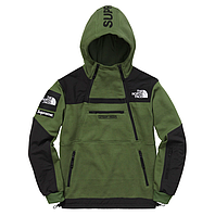 Кофта Supreme x The North Face SteepTech Green/black.