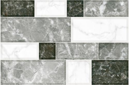 Плитка настенная Грани серые