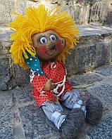 """Текстильная интерьерная игрушка, сувенир, оберег ручной работы """"Домовёнок Кузя"""", размеры - 15х40"""
