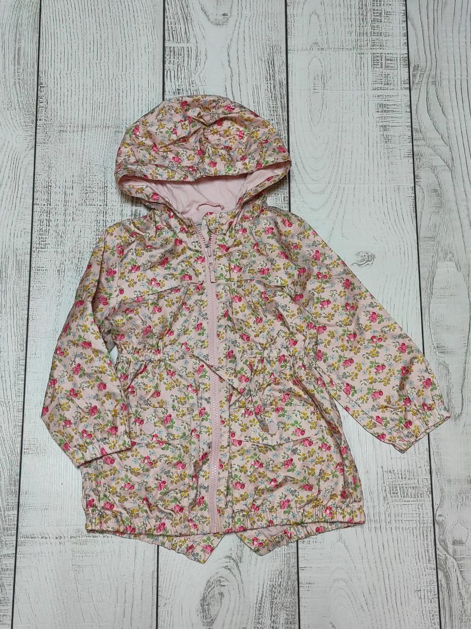Куртка ветровка для девочки демисезонная 3-4 года
