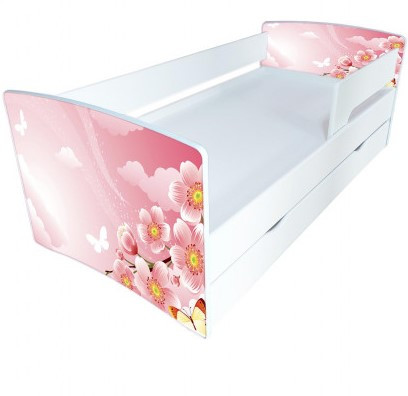 Детская кровать Kinder-Cool / Киндер-Кул 4 с защитным бортиком и ортопедическим основанием ТМ Viorina-Deko