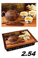 Поднос с подушкой вкусный чай