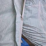 Полуторный комплект постельного белья из хлопка Полуторний комплект постільної білизни на молнии S333, фото 4