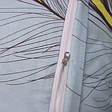 Полуторный комплект постельного белья из хлопка Полуторний комплект постільної білизни на молнии S333, фото 5