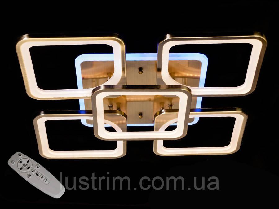 Светодиодная LED люстра с диммером и подсветкой, 130W