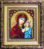 БЮ-002 Казанская икона Божией Матери. Набор для вышивания ювелирным бисером