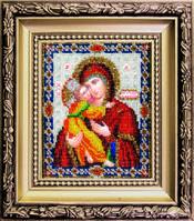 БЮ-005 Владимирская икона Божией Матери. Набор для вышивания ювелирным бисером