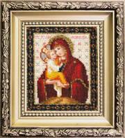 БЮ-011 Икона Божьей Матери Почаевская. Набор для вышивания ювелирным бисером