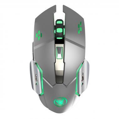 ZERODATE M70 серая беспроводная мышь со встроенным аккумулятором