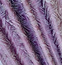 Готовые льняные шторы | Готові штори з льону | Комплект якісних штор | Шторы с подхватами | Фиолетовые шторы |