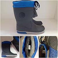 Резиновые сапоги Италия 33-34 синие с утяжкой