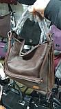 Качественные женские сумки Премиум Класса 2отд (КОРИЧНЕВЫЙ)37*35см, фото 3