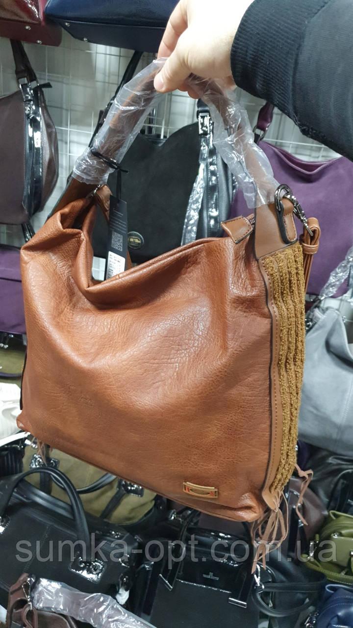 Качественные женские сумки Премиум Класса 2отд (КОРИЧНЕВЫЙ)37*35см