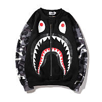 Свитшот Bape Zip Black/Camo Наличие: (M)-2 (L)-2 (XL)-2