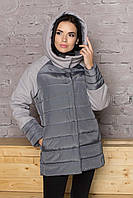 Серая модная женская куртка