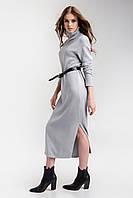 Модное красивое вязаное платье Серый 42/44,46/48,50/52 размер