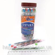 Ручка масленая № 1409 Josef Otten Curvy синяя в банке 0,6мм mix уп 30 шт