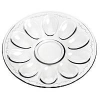 Блюдо скляне для яєць Jaslo 481.1398 26см