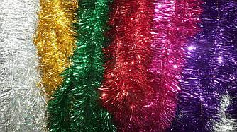 Мишура новогодняя 10 см/3 м. - 50 шт/упаковка цвета в ассортименте
